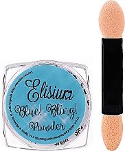 Parfumuri și produse cosmetice Pudră pentru unghii - Elisium Blue Bling Powder