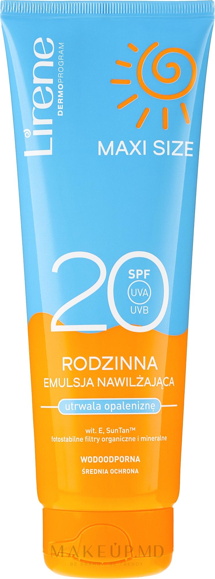 Эмульсия для загара - Lirene Sun Care Emulsion SPF20 — фото 250 ml