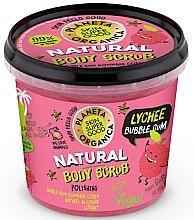 Parfumuri și produse cosmetice Scrub pentru corp - Planeta Organica Natural Body Scrub Lychee & Bubble Gum