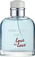 Parfumuri și produse cosmetice Dolce & Gabbana Light Blue Love is Love Pour Homme - Apă de toaletă