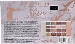 Farduri pentru pleoape - Makeup Revolution x Kisu Eyeshadow Palette — Imagine N4