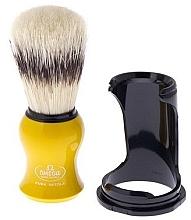 Parfumuri și produse cosmetice Pămătuf de ras, 80265, cu suport, galben - Omega