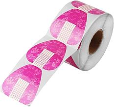 Parfumuri și produse cosmetice Широкие формы для наращивания ногтей, розовые с цветами - Silcare
