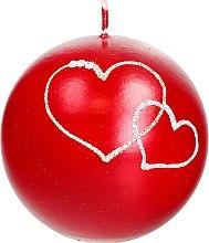 Parfumuri și produse cosmetice Lumânare decorativă, roșie, minge, 10 cm - Artman Forever