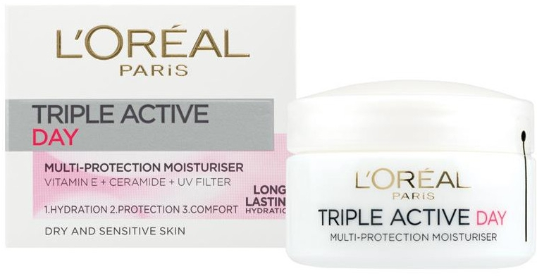 "Cremă hidratantă ""Trio Aktiv"" pentru ten normal și combinat - L'Oreal Paris Triple Active Day — Imagine N1"