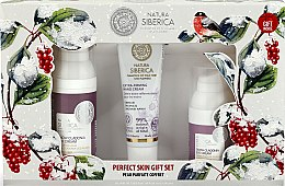 Parfumuri și produse cosmetice Set - Natura Siberica Snow Cladonia Gift Set (f/cr/50ml + eye/cr/30ml + h/cr/30ml)