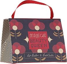 Parfumuri și produse cosmetice Set - Bath House Barefoot & Beautiful Magical Beauty Queen (lip/balm/15g + b/salt/100g)