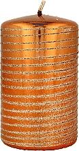 Parfumuri și produse cosmetice Lumânare decorativă, aurie, 7x10 cm - Artman Andalo Metalic Candle