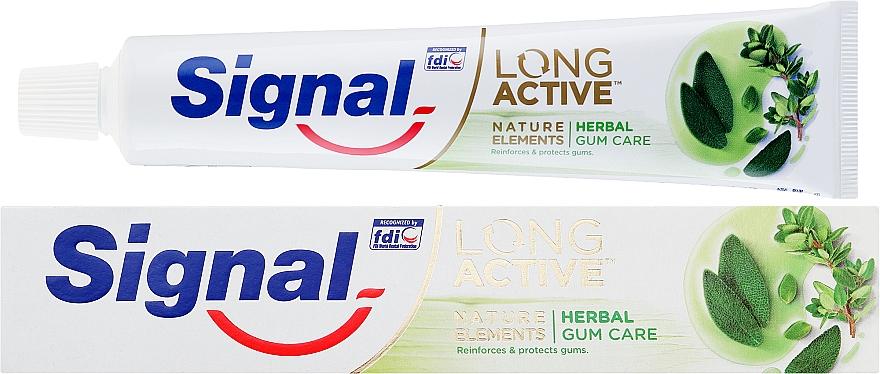 Pastă de dinți pentru protecția gingiilor - Signal Long Active Natural Elements