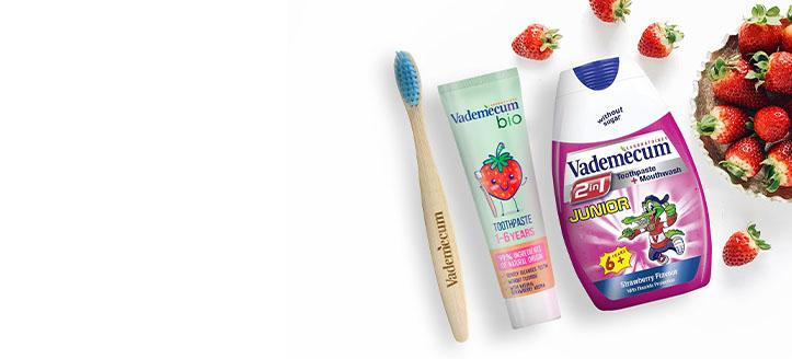 La achiziționarea oricărui produs Vademecum, primești cadou o periuță de dinți pentru copii la alegere