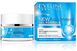 Parfumuri și produse cosmetice Gel hidratant pentru pielea normală și combinată - Eveline Cosmetics Aqua Hybrid Gel Formula