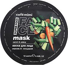 """Parfumuri și produse cosmetice Mască de față """"Morcov și țelină"""" - Cafe Mimi Face Mask"""
