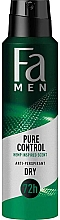 Parfumuri și produse cosmetice Antiperspirant spray - Fa Men Pure Control Hemp Inspired Scent Anti-Perspirant