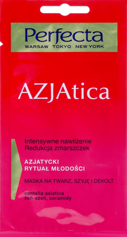 Mască de față, gât și decolteu - Perfecta Azjatica Mask For Face Neck And Decolletage — Imagine N1