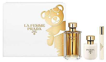 Prada La Femme Prada - Set (edp/100ml + b/lot/100ml + edp/mini/10ml) — Imagine N1