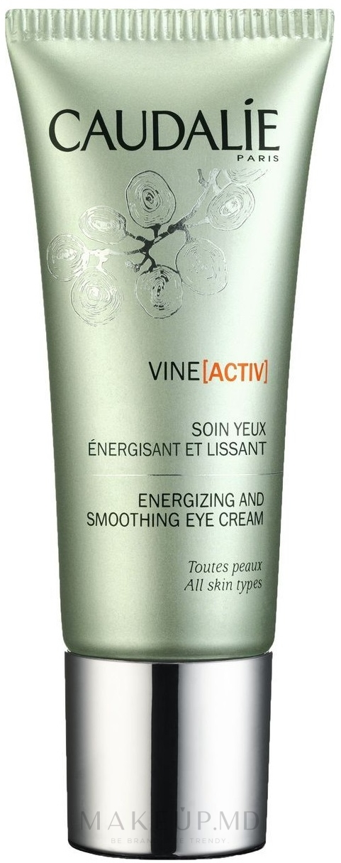 Cremă cu efect de netezire pentru zona ochilor - Caudalie VineActiv Energizing and Smoothing Eye Cream — Imagine 15 ml