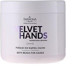 Parfumuri și produse cosmetice Perle pentru baie de mâini, cu aromă de crin și liliac - Farmona Professional Velvet Hands Bath Beads For Hands