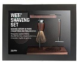 Parfumuri și produse cosmetice Set - Zew For Men Wet Shaving Set (soap/85ml + razor/1psc + sh/brush/1pcs + sh/cup/1pcs + sh/stand/1pcs)