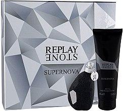 Parfumuri și produse cosmetice Replay Stone Supernova for Him - Set (edt/50ml + sh/gel/100ml)