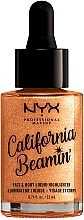 Parfumuri și produse cosmetice Highlighter lichid pentru față și corp - NYX Professional Makeup California Beamin' Face & Body Liquid Highlighter