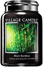 """Parfumuri și produse cosmetice Lumânare parfumată într-un borcan """"Bambus negru"""" - Village Candle Black Bamboo"""