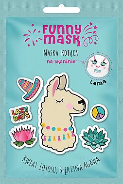 """Masca calmantă pentru față """"Lama"""" - Marion Funny Mask Lama — Imagine N1"""