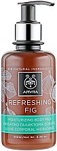 """Parfumuri și produse cosmetice Lapte hidratant pentru corp """"Smochină răcoritoare"""" - Apivita Refreshing Fig Body Milk"""
