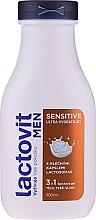 Parfumuri și produse cosmetice Gel de duș 3 în 1 pentru bărbați - Lactovit Men Sensitive 3v1 Shower Gel
