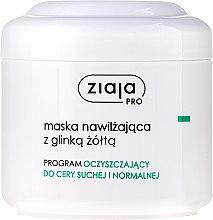 Parfumuri și produse cosmetice Mască hidratantă de față cu argilă galbenă - Ziaja Pro Moisturizing Mask with Yellow Clay
