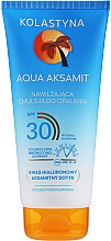 Parfumuri și produse cosmetice Emulsie hidratată pentru bronzare - Kolastyna Aqua Aksamit Suncare Emulsion SPF 30