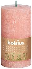 Parfumuri și produse cosmetice Lumânare cilindrică, roz, 130x68 mm - Bolsius