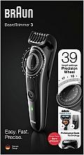 Parfumuri și produse cosmetice Trimmer pentru barbă și mustață, negru - Braun BeardTrimmer3 BT3242