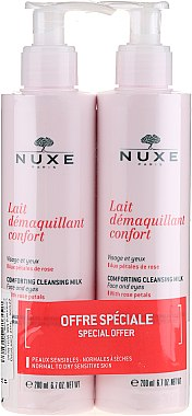 Set - Nuxe Comforting Cleansing Milk With Rose Petals (cl/milk/2x200ml) — Imagine N1