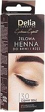Parfumuri și produse cosmetice Gel vopsea pentru sprâncene maro închis - Delia Eyebrow Tint Gel ProColor 3.0 Dark Brown