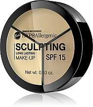 Духи, Парфюмерия, косметика Палетка для контуринга лица - Bell HypoAllergenic Long Lasting Sculpting Make-Up SPF 15