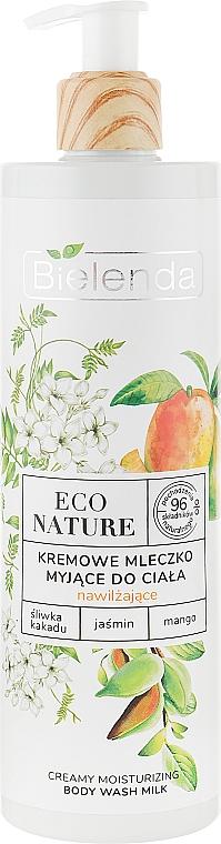 Lapte cremos de duș - Bielenda Eco Nature Creamy Body Wash Milk Kakadu Plum, Jasmine & Mango — Imagine N1
