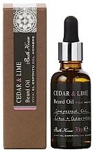 Parfumuri și produse cosmetice Bath House Cuban Cedar & Lime - Ulei de barbă