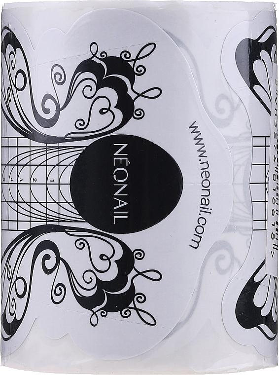"""Șabloane pentru alungirea unghiilor """"Fluture"""", 100 bucăți - NeoNail Professional"""