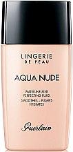 Parfumuri și produse cosmetice Fluid tonal hidratant - Guerlain Lingerie de Peau Aqua Nude