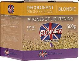 Parfumuri și produse cosmetice Pudră decolorantă până la 9 tonuri pentru păr - Ronney Decolorant Professional Blondie