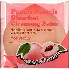Parfumuri și produse cosmetice Balsam de piersici pentru curățarea feței - Tony Moly Peach Punch Sherbet Cleansing Balm