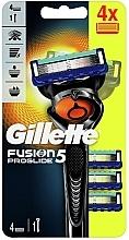 Parfumuri și produse cosmetice Aparat de ras cu 4 casete rezervă - Gillette Fusion5 ProGlide
