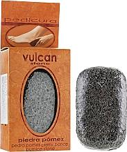 Parfumuri și produse cosmetice Piatră ponce, 98x58x37 mm, Dark Grey - Vulcan Pumice Stone