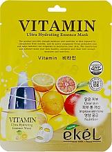 Parfumuri și produse cosmetice Mască de țesut pe bază de complex de vitamine - Ekel Vitamin Ultra Hydrating Mask
