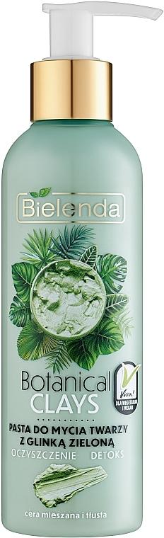 Pastă de curățare cu extract de argilă verde pentru față - Bielenda Botanical Clays Vegan Face Wash Paste Green Clay