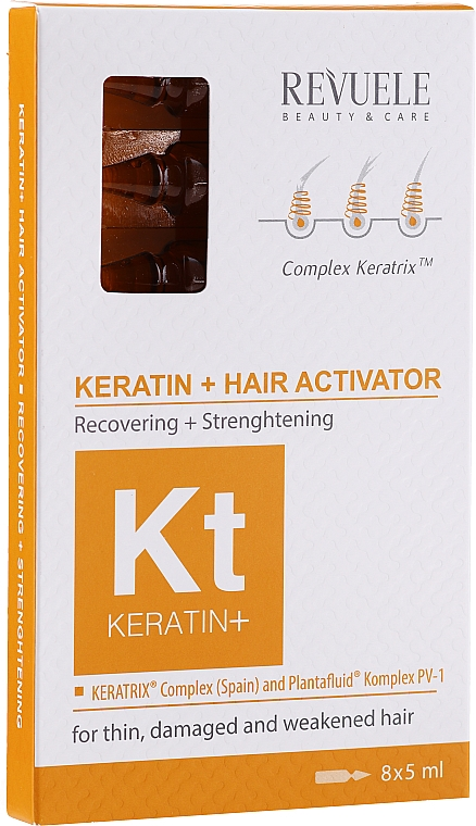 Activator pentru păr - Revuele Keratin+ Ampoules Hair Restoration Activator
