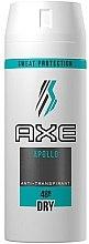 "Parfumuri și produse cosmetice Antiperspirant ""Apollo"" pentru bărbați - Axe Apollo Anti-Transpirant Dry Protection 48H"