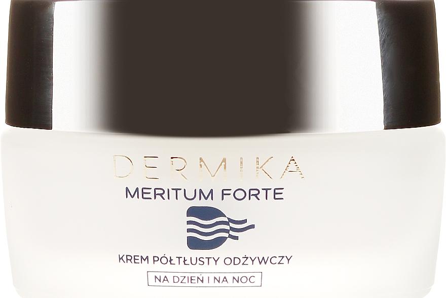 Cremă nutritivă pentru piele uscată și sensibilă - Dermika Meritum Cream — Imagine N2