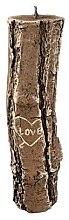Parfumuri și produse cosmetice Lumânare parfumată, 7x26 cm, butuc de lemn - Artman Stump Valentin