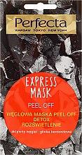 Parfumuri și produse cosmetice Mască de față cu cărbune de lemn - Perfecta Express Mask Peel-Off Detox